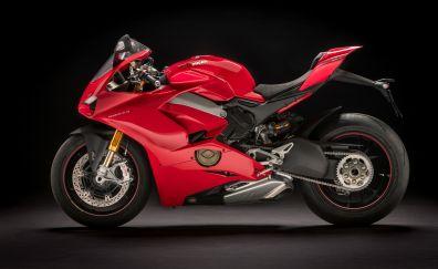 Ducati panigale v4, sports bike, red, 4k