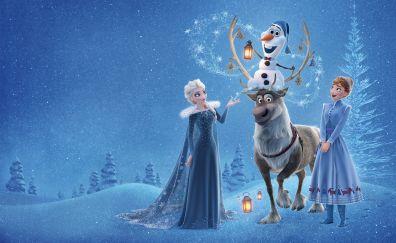 Olaf's Frozen Adventure, movie, animation, 4k