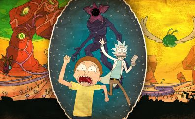 Rick and morty, animated, tv show, run, 4k