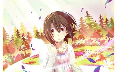 Anime girl, stunned, Inaba Himeko, Kokoro Connect