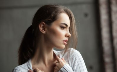 Lidia savoderova, girl model, looking away