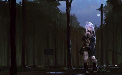 Outdoor, anime girl, Zero kara hajimeru mahou no sho