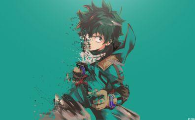 Izuku midoriya, minimal, anime boy, My Hero Academia