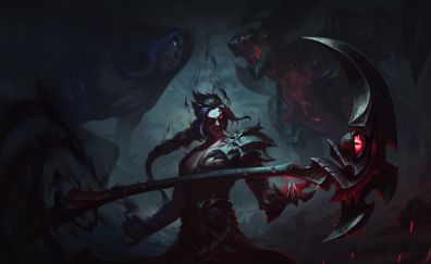 Kayn, League of legends, online game, dark, warrior