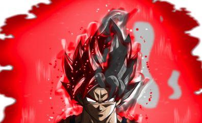 Angry super saiyan, dragon ball, goku