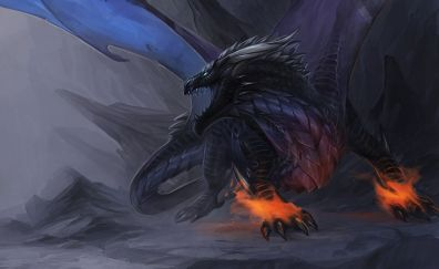 Angry, Dragon, fantasy, art