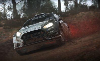 Dirt 4, gaming, race, mud on car