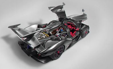 Sports car, open doors, Apollo Ie, car
