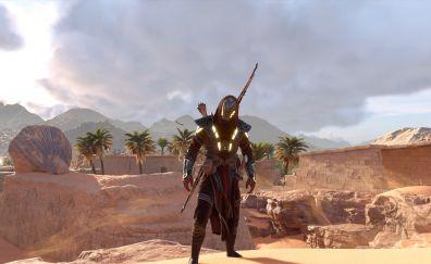 Assassin's Creed Origins, desert, video game, 4k