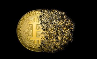 Bitcoin, currency, money, digital art