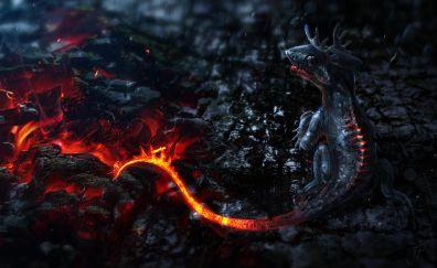 Peruvian Vipertooth, dragon, art