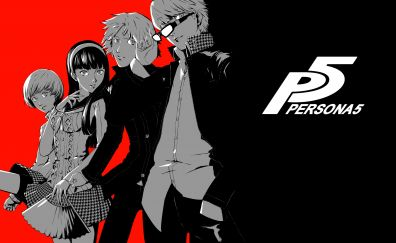 Persona 5, video game, anime, 5k