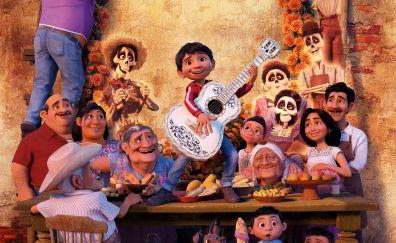 Coco, animated movie, dance, 2017, 4k