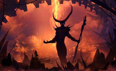 Demon, devil, monster, fantasy, 5k, hell, art
