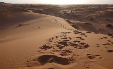 Sand, dunes, desert, sky