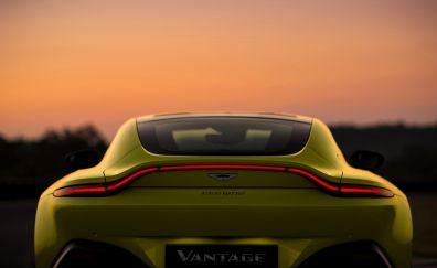 Aston Martin V8 Vantage, rear, 2018 car, 4k