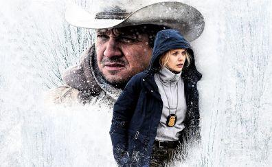 Jeremy Renner, Elizabeth Olsen, Wind River, 2017 movie