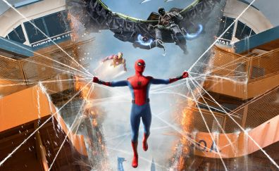 Spider-man: homecoming, 2017, movie, 4k