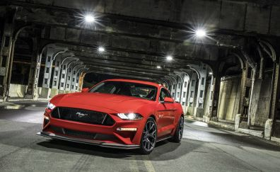 Ford mustang gt performance pack level 2, muscle car, 2018, 4k