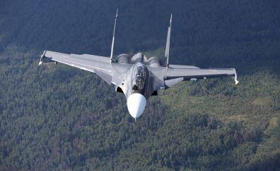 Sukhoi Su-30, airplane, warplane, military, sky, 4k