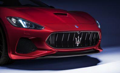 Maserati GranTurismo, 2018 car, bonnet, headlights
