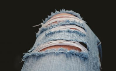 Ripped jeans, fabric, legs