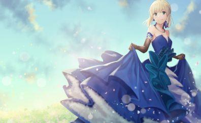Saber, beautiful, fate/stay night, anime girl