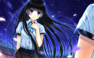 Cute, long hair, girl, Ayame no Machi to Ohime-sama