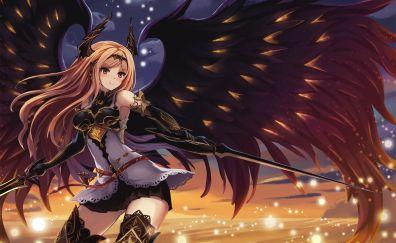 Dark Angel Olivia, Granblue Fantasy, warrior, wings