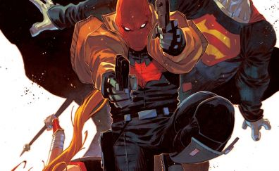 Red hood, gun shots, dc comics