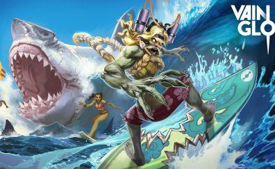 Surfing, vainglory, krul, game, 4k