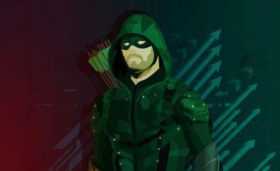 Arrow green, superhero, fan art