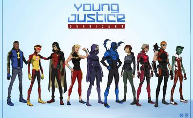 Young Justice Outsiders, superheroes, art