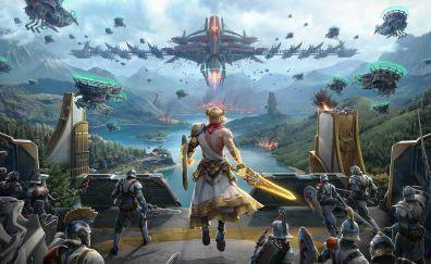 Skyforge, video game, battle