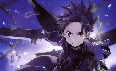 Kirito, Sword Art Online, anime, SAO