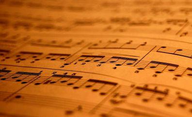 Music notes light