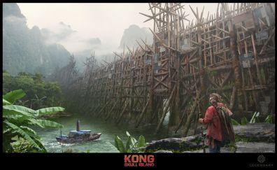 Kong skull: island, movie, fan art, wooden fort