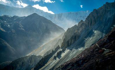 Annapurna Massif, mountains, nepal, nature