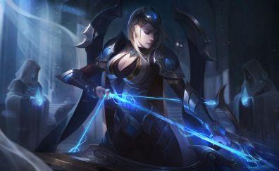 Girl warrior, Ashe, league of legends, archer
