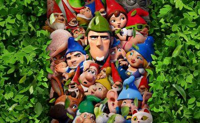 Sherlock gnomes, movie, 2018, 4k