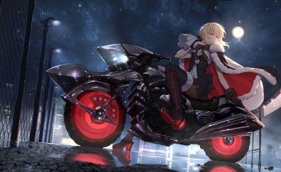 Biker, saber of red, Fate/Grand Order, anime girl