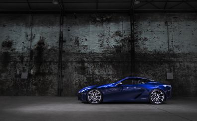 2012 Lexus LF-LC concept, blue car