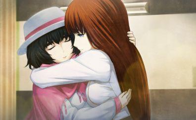 Mayuri Shiina, Kagari Shiina, Steins;Gate, anime girls, hug