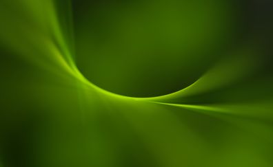 Simple, green curves, abstract, 4k