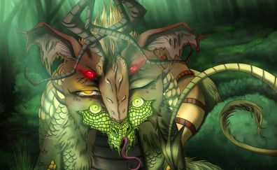 Creature, monster, fantasy, digital art