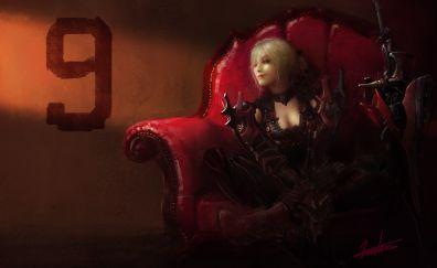 Aranea highwind of final fantasy xv video game artwork