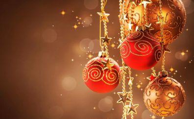 Christmas decorations of balls
