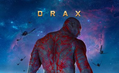 Dave Bautista as drax in Guardians of the galaxy movie