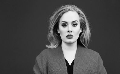 Singer Adele monochrome