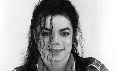 Michael Jackson, monochrome, 4k